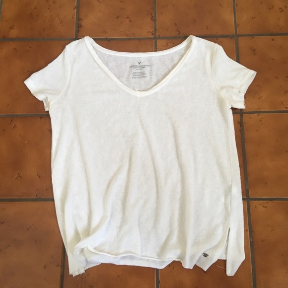 3b83cbb8d77 American Eagle Outfitters Tops | American Eagle White Tee Size Xxs ...